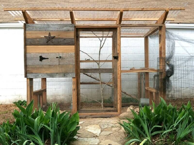 simple chicken coop with run