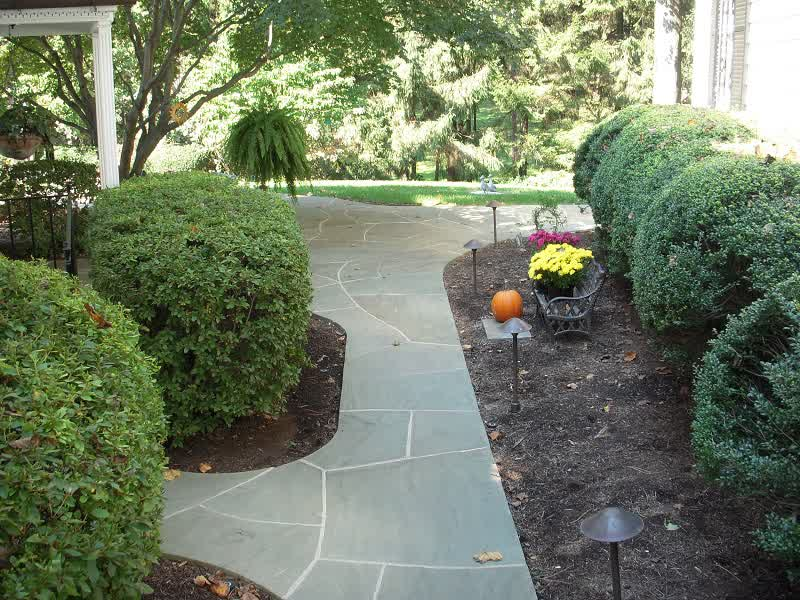backyard landscaping rock path