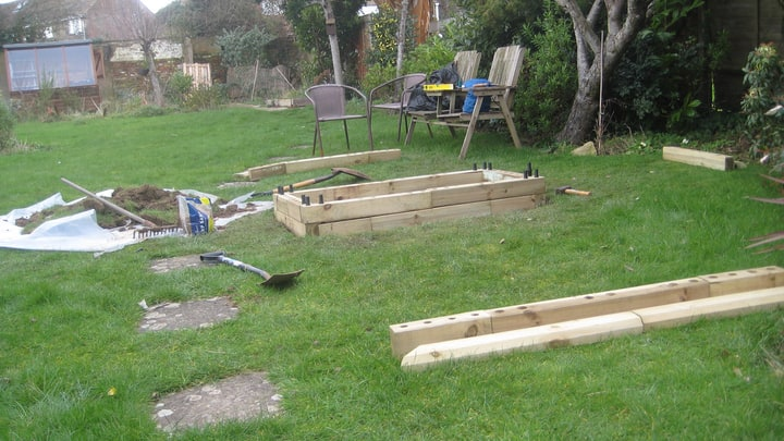 building raised garden bed frames