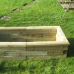 empty raised garden bed