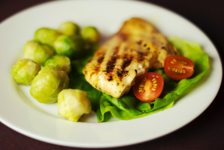 brussel sprouts paired with lettuce chicken and tomato