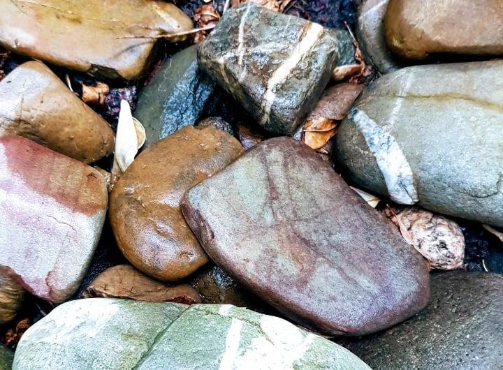 colorful garden rocks