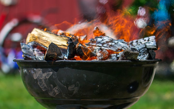 fire pit that can be covered