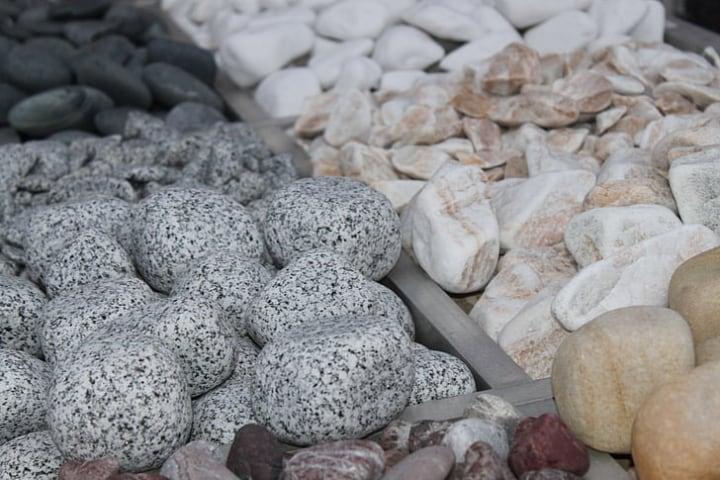 garden rocks in different colors