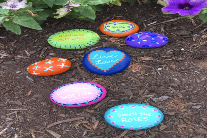 garden rocks with sayings