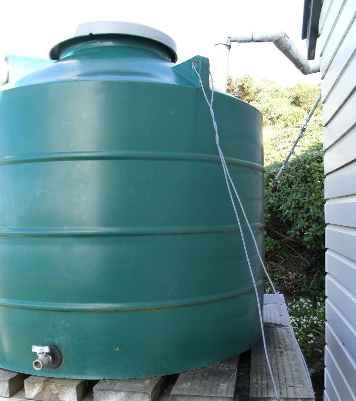 large rainwater collection tank