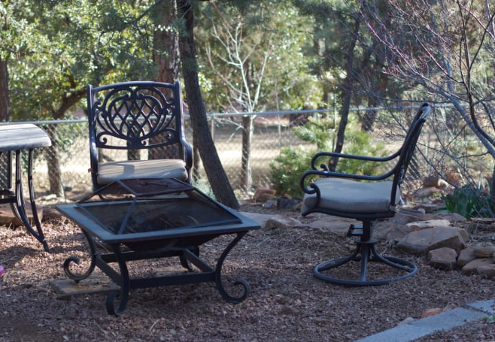 matching fire pit and seats