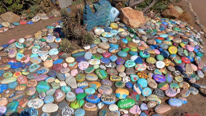 painted rock garden