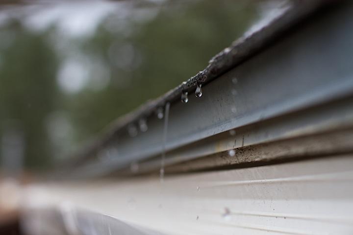rainwater harvesting through gutter