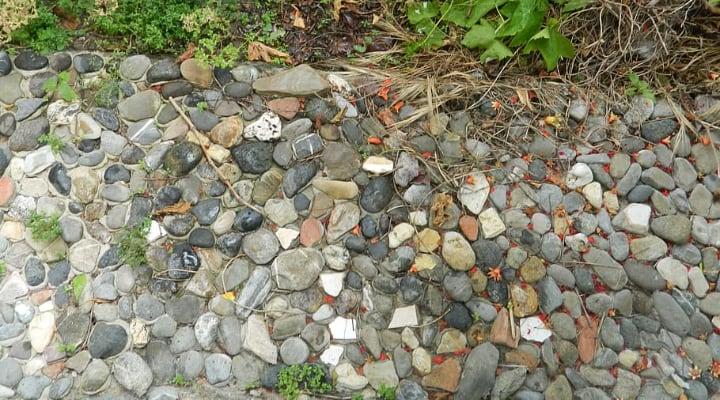 small garden rocks for flooring