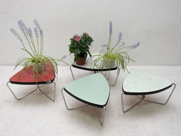 chromed plant stand