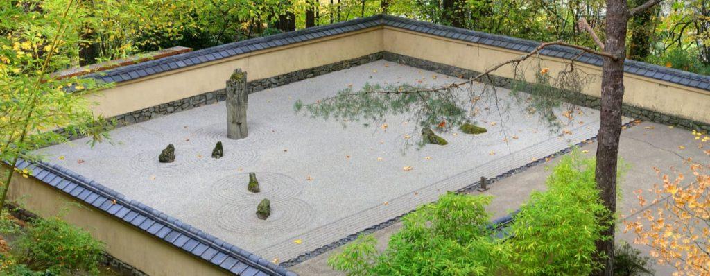 low maintenance rocky zen garden