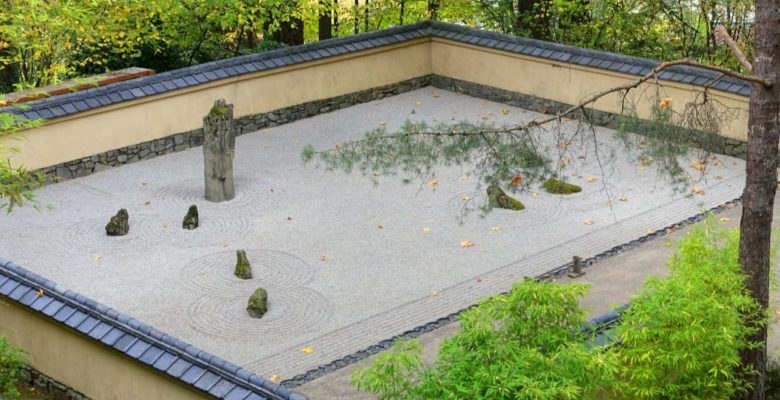 low maintenance rocky zen garden