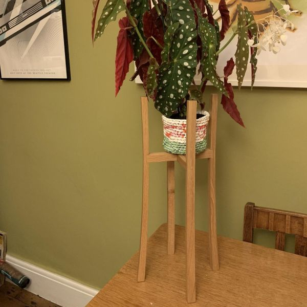 plant stand oak