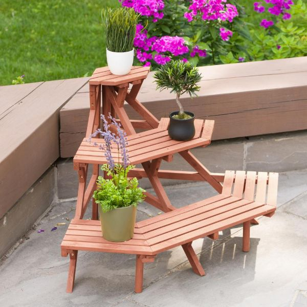 plant stands outdoor wood