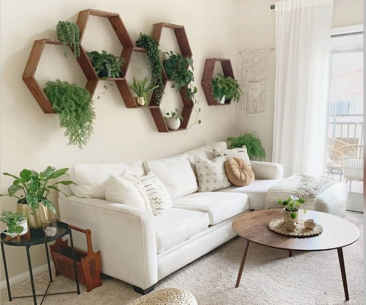 plant wall living room