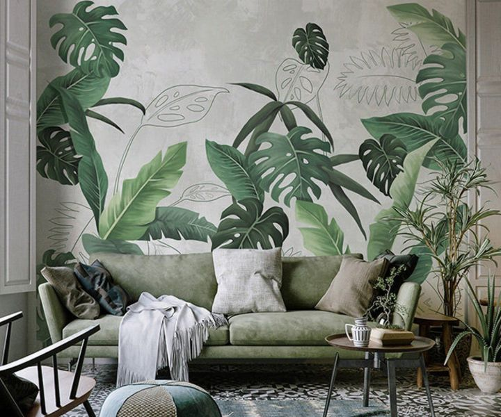 plant wall mural