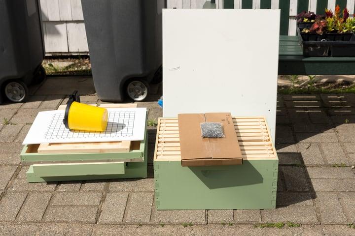 assembling beehive parts