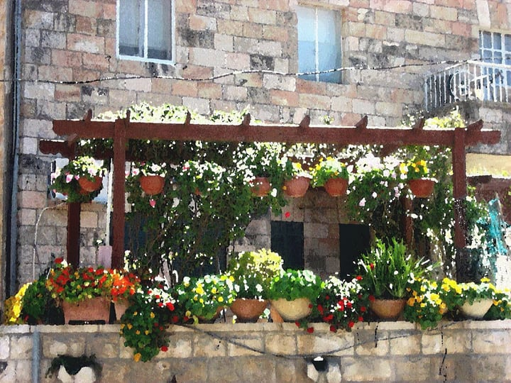balcony flower garden