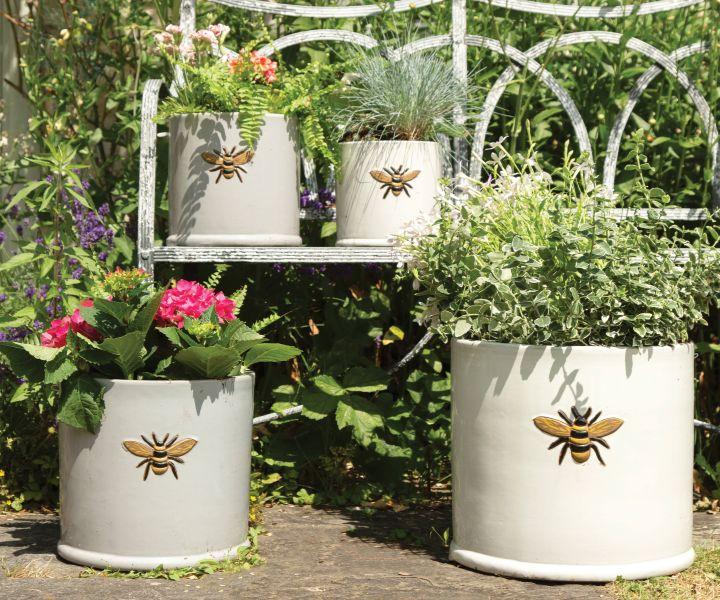 bee garden planters