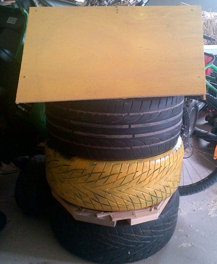 diy tire beehive