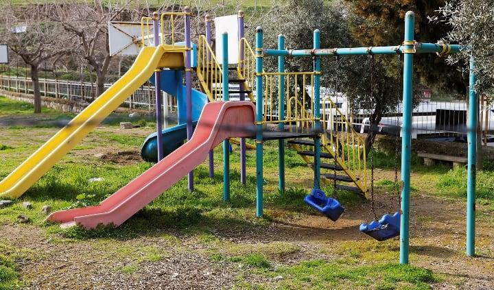 garden swing playground set