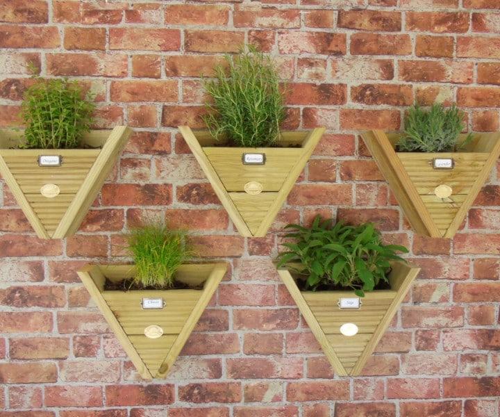 herb pots hanging