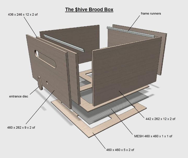 large plywood honey hive
