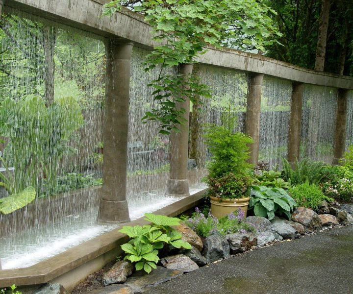 water wall gardening