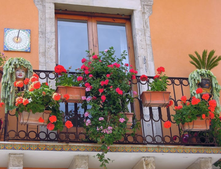 well designed balcony garden