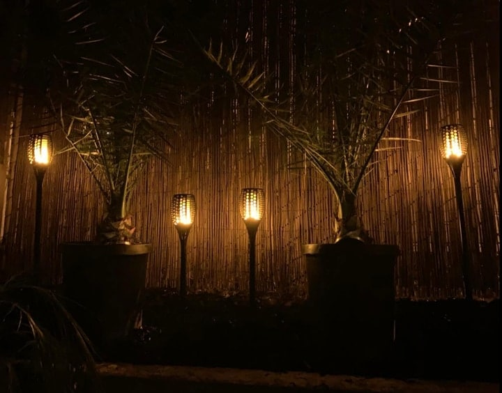 accent garden lights