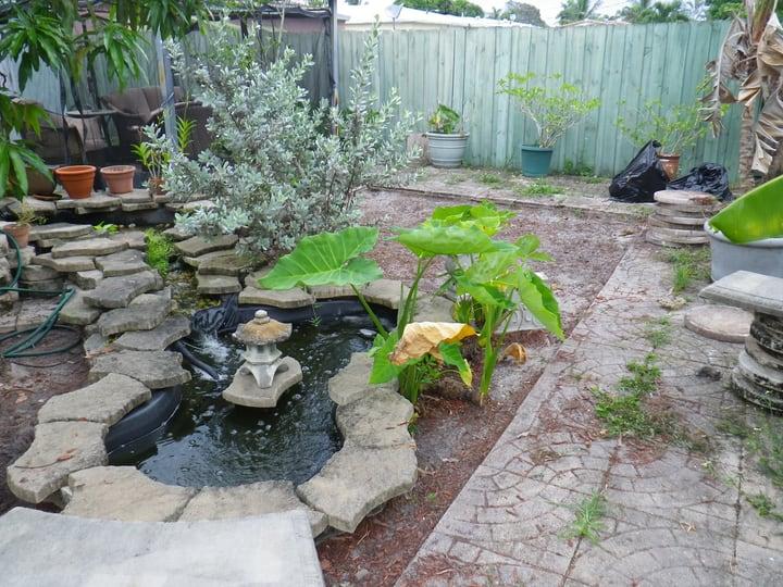adding a water feature on landscape garden