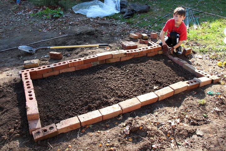 adding compost to tilted soil