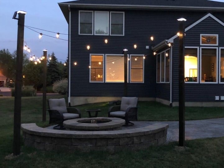 backyard garden lights