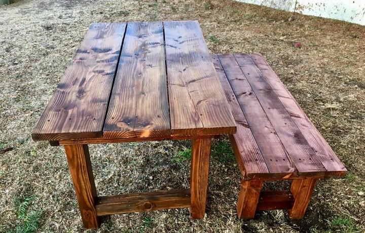 diy table built using circular saw