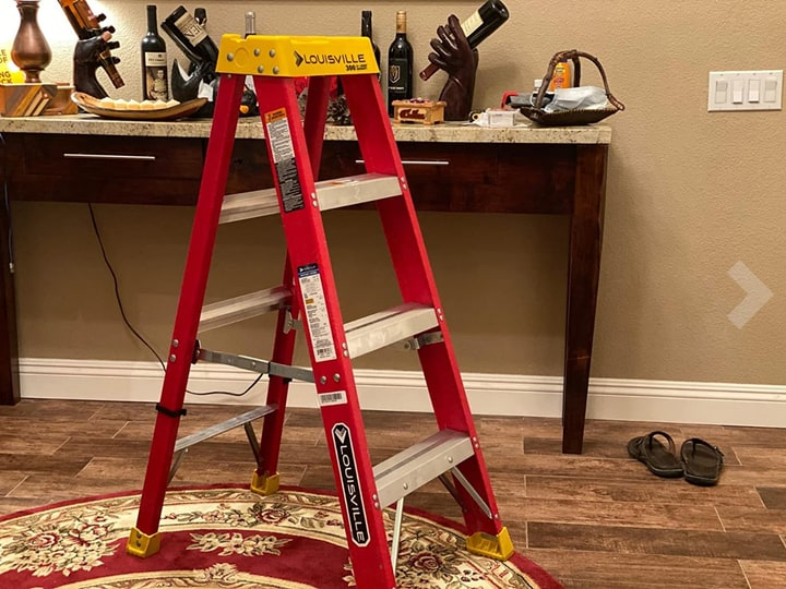 durable fiber glass step ladder