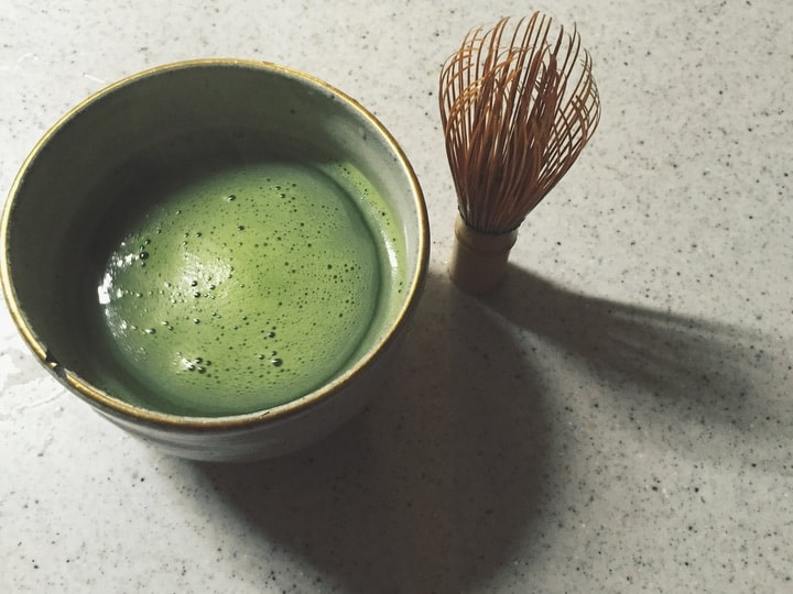 homemade matcha green tea