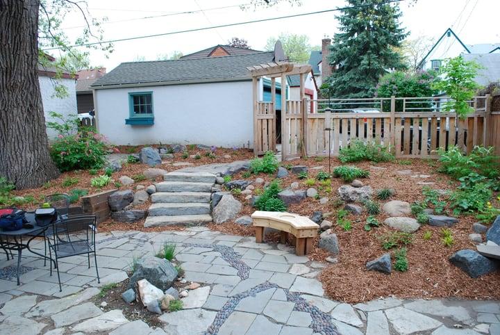 outdoor backyard landscape garden