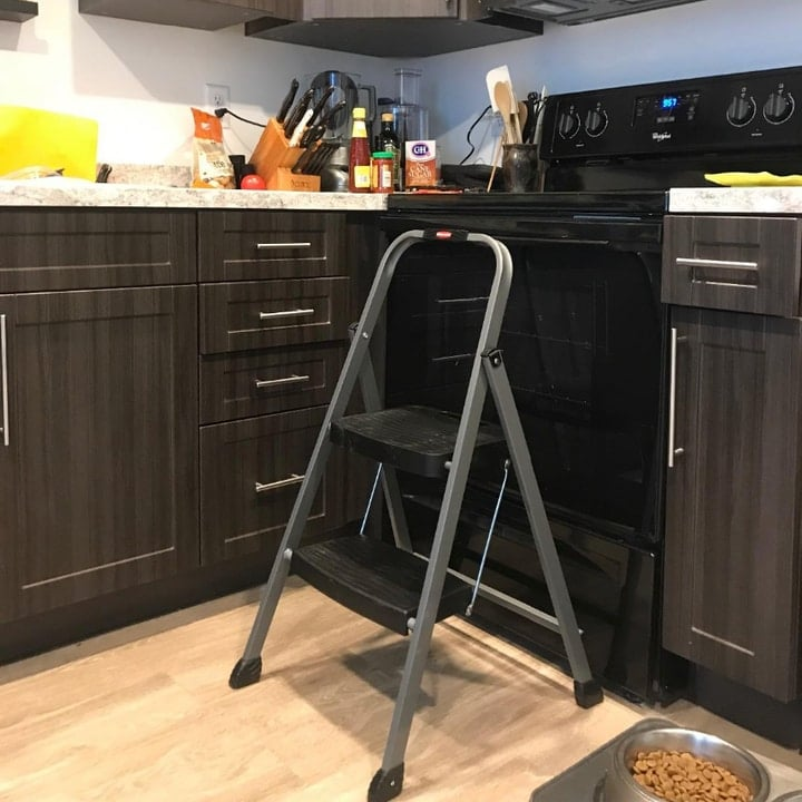 step ladder in the kitchen