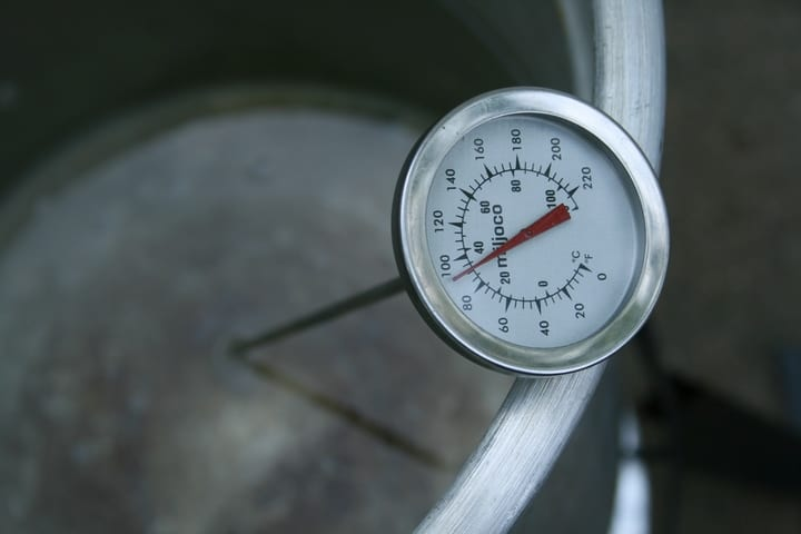 water at eighty degrees celsius