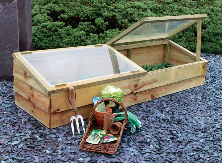 winter gardening using cold frame
