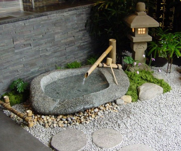 zen garden fountain