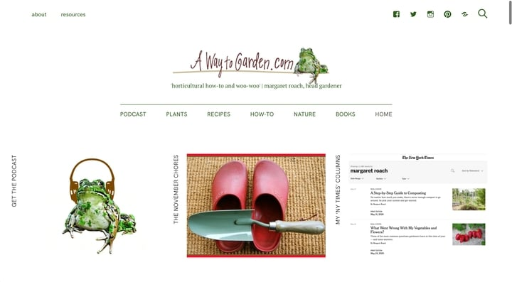 a way to garden website homepage