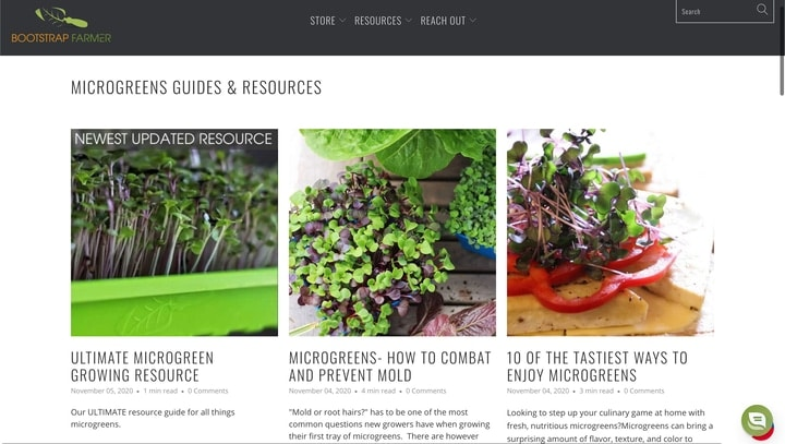 bootstrap farmer best microgreen websites and blogs