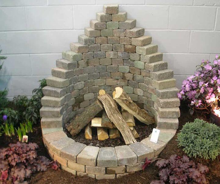 built in fire pit ideas