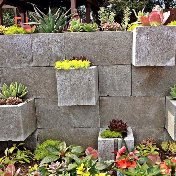 cinder block wall planter