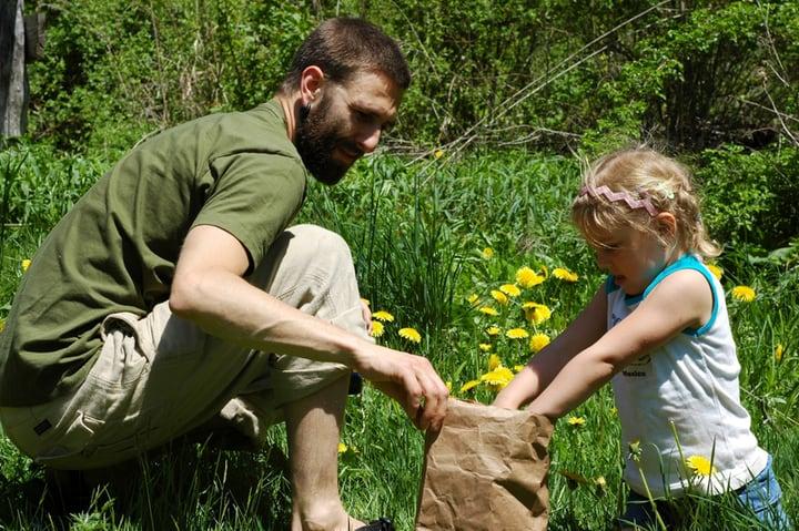 family spring gardening