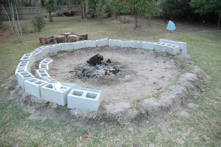 filling an empty spot with a firepit