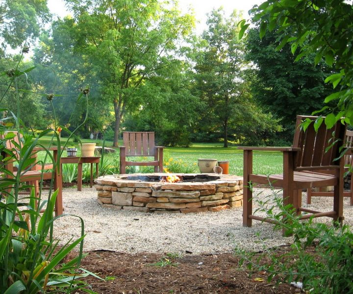 fire pit bench ideas