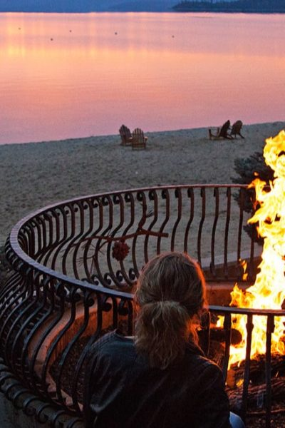 fire pit by the beach